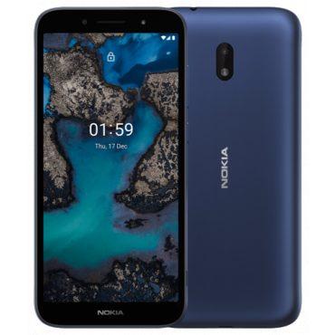 nokia C 1 Plus front back blue