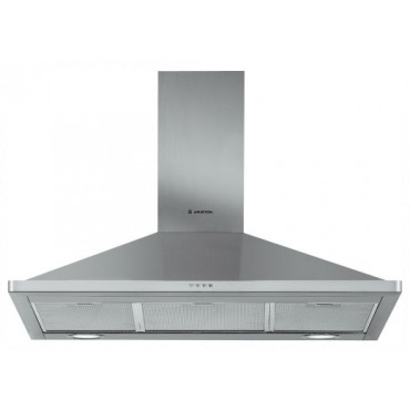 Ariston Wall Mounted Cooker Hood 90cms AHPN9.4 - Silver