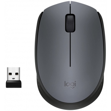 Logitech M170 Wireless Mouse, 2.4 GHz with USB Nano Receiver, Optical Tracking, 12-Months Battery Life, Ambidextrous, PC/Mac/Laptop - Black